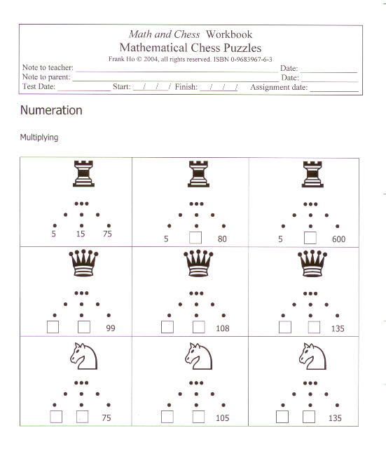 Sample worksheets gt mathematical chess puzzles 4